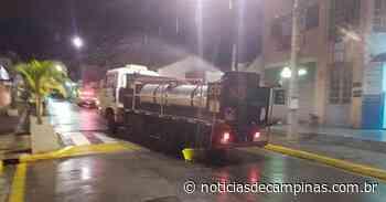 Jarinu retoma higienização de locais de aglomeração - Notícias de Campinas