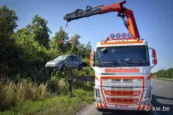 Spectaculair ongeval op E403 maar geen gewonden