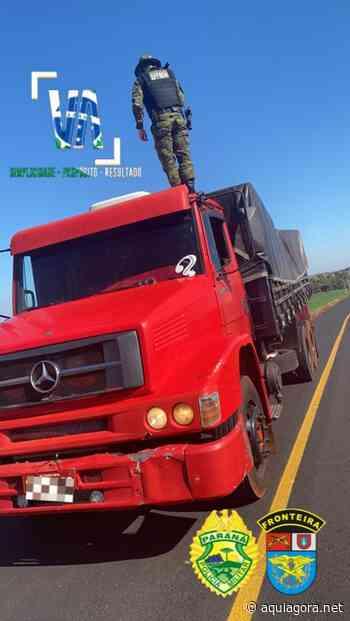 BPFron apreende caminhão carregado com cigarros em Santa Helena e prejuízo ao crime é de R$1 milhão - Aquiagora.net