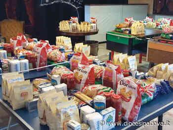Circolo di San Pietro di Stra. Venti borse della spesa donate al comune per le persone in difficoltà - Chiesa di Padova - Diocesi di Padova