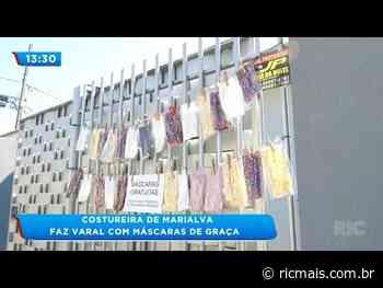Costureira de Marialva faz varal com máscaras de graça - RIC Mais - RIC Mais