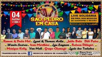 Live Solidária São Pedro em Casa será realizada em Guanambi - Agência Sertão