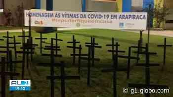 Ato faz homenagem às vítimas da Covid-19 em Arapiraca, AL - G1