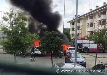 Tre auto in fiamme in via Van Gogh - Video - Gazzetta di Parma