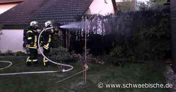 Heckenbrand in Spaichingen endet glimpflich - Schwäbische