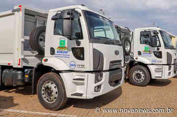 Dois novos caminhões vão otimizar a coleta de lixo em Nova Andradina - Nova News - Nova News