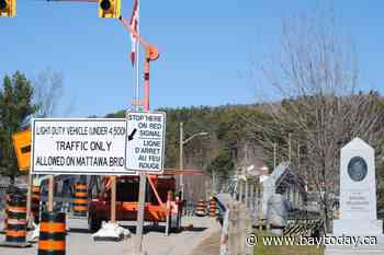 Mayor asks for patience as essential Mattawa bridge moves along construction timeline - BayToday