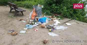 Zuviel Abfall für die öffentlichen Eimer in Ginsheim-Gustavsburg - Echo Online