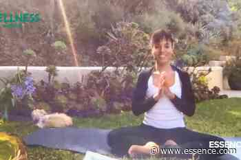 Kerry Washington's Yoga Tutorial In Her Garden Is Everything You Didn't Know You Needed - Essence