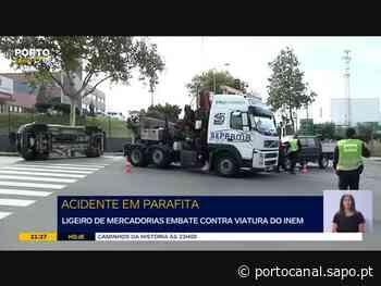 Carrinha abalroa viatura do INEM e faz cinco feridos ligeiros em Perafita - sapo.pt