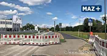 Wildau: Baustelle auf der L401 wandert, neue Zufahrt zur Tankstelle - Märkische Allgemeine Zeitung