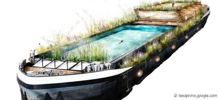 A floating swimming pool for Canary Wharf