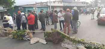 Habitantes de Caripe trancan las calles por segundo día consecutivo por la falta de combustible - El Nacional