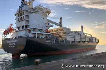 Empezó a operar en TC2 (Puerto Mar del Plata) el nuevo buque London Trader de Maersk, que duplica la capacidad de contenedores - NUESTROMAR