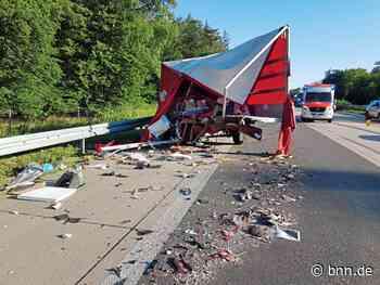 Unfall auf der A5 bei Ubstadt-Weiher mit vier Fahrzeugen - darunter ein Pferdetransporter - BNN - Badische Neueste Nachrichten