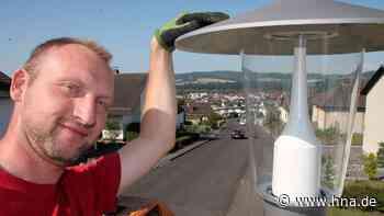Bebra: Neues Licht für die Lampen Stadt rüstet auf LED Lampen um Kosten Einsparung Strom sparen - hna.de