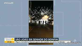 Moradores de Cachoeira e Senhor do Bonfim fazem 'guerra de espadas' durante pandemia do novo coronavírus - G1