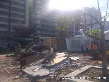 Prefeitura de Guarapari desmonta estrutura do Ciac na Praia do Morro - Folha Vitória