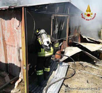 Paura a Poggibonsi, incendio in un capanno agricolo - Siena News