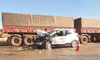 Motorista fica ferido em colisão com carreta em Nova Mutum - Só Notícias