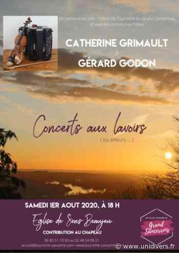 Concerts aux lavoirs (ou ailleurs) samedi 1 août 2020 - Unidivers
