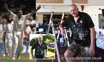 England great Angus Fraser has spent lockdown painting the pavilion at the club where it all began - Daily Mail