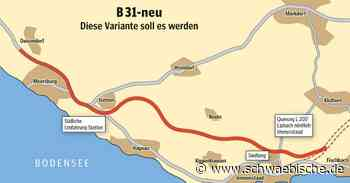B 31-neu: Markdorf stimmt geplanter Trassenführung zu - Schwäbische