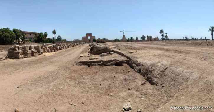 Roman ovens, Late Period wall discovered in Luxor