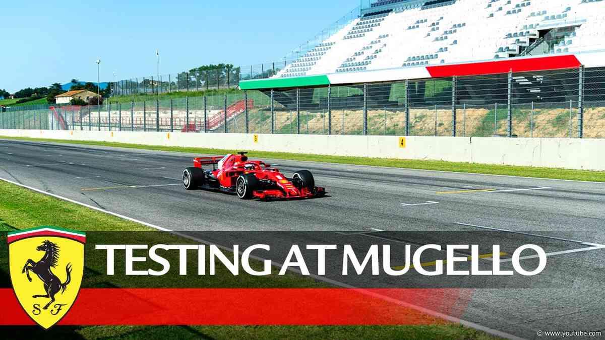 Testing at Mugello Circuit