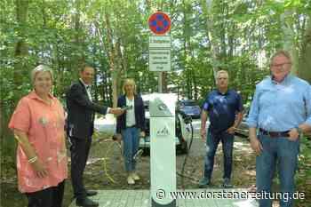 Neue Ladesäule für Elektroautos am Schloss Raesfeld - Dorstener Zeitung