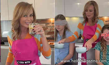 Amanda Holden delights fans with hilarious cooking video featuring her two daughters