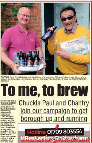 Paul Chuckle and Chantry Brewery back Rotherham Advertiser campaign - HoldTheFrontPage.co.uk