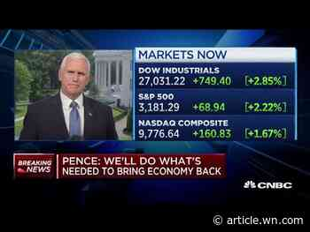U.S. in a 'better place' than 2 months ago, Pence says, despite COVID-19 surges in ...