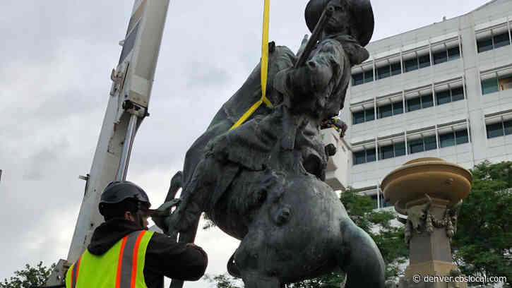 Kit Carson, Part Of Pioneer Monument At Colfax And Broadway, Removed By Denver Crews