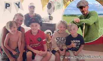 Davinia Taylor throws 13th birthday party for son Grey in Spain