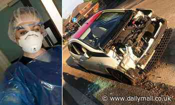 Nurse, 24, returns from shift to find thugs had STRIPPED her car of nearly all of its parts