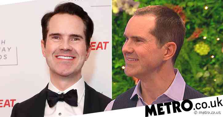 Jimmy Carr shows off amazing new look after hair transplant on Peter Crouch's Save Our Summer