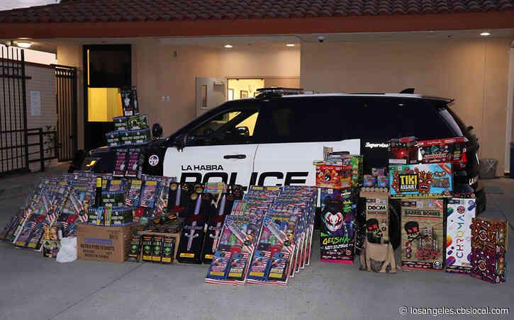 700 Pounds Of Fireworks Seized From La Habra Homes; 2 Men, 1 Woman Arrested