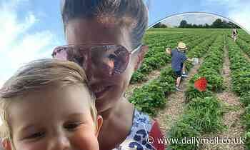 Rebekah Vardy picks strawberries with son ahead of court case