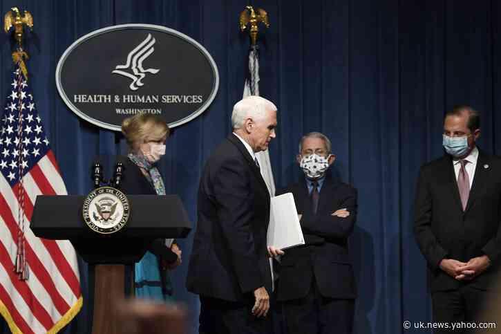 Coronavirus task force briefs — but not at White House