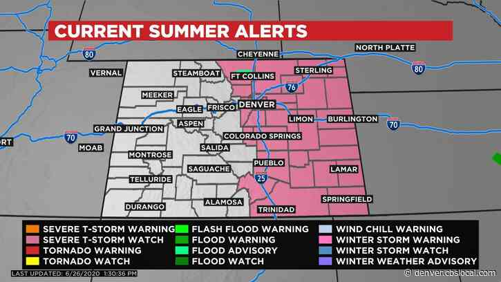 Denver Weather: Severe T-storm Watch For All Of Eastern Colorado