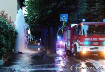 Salta idrante in via Marconi, sul posto i pompieri - Prima Saronno