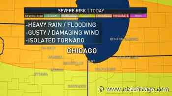 Severe Thunderstorm Warning Issued for Several Chicago-Area Counties