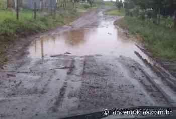 Moradores da Linha Faxinal do Irani reclamam da situação das estradas - Lato
