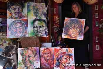 """Kunstenares zet lokale portretten op doek: """"Dankzij corona kon ik eindelijk mijn droom waarmaken"""" - Het Nieuwsblad"""