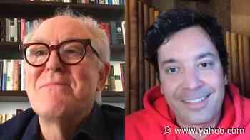 John Lithgow Finally Meets Jimmy Fallon's Dog - Yahoo Entertainment