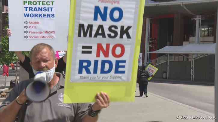 RTD Union Members Picket, Demand Passengers Wear Masks, Better Protection From Coronavirus