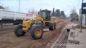 Rufeil recorrió obras de asfaltado en el sur de Palmira - tiempodeleste.com