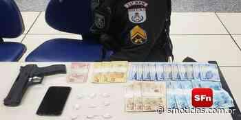 PM apreende simulacro de arma, cocaína e dinheiro em Cantagalo - SF Notícias
