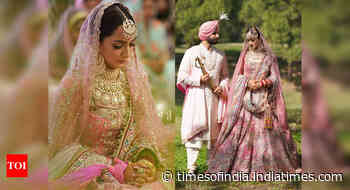 This bride wore a rose pink tulle lehenga